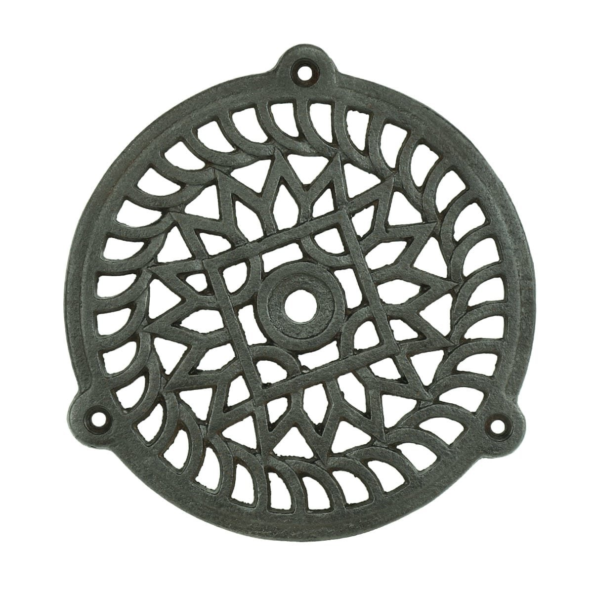Hardware Grilles & Grates Wall grate antique round iron Brüel - Ø 160 mm