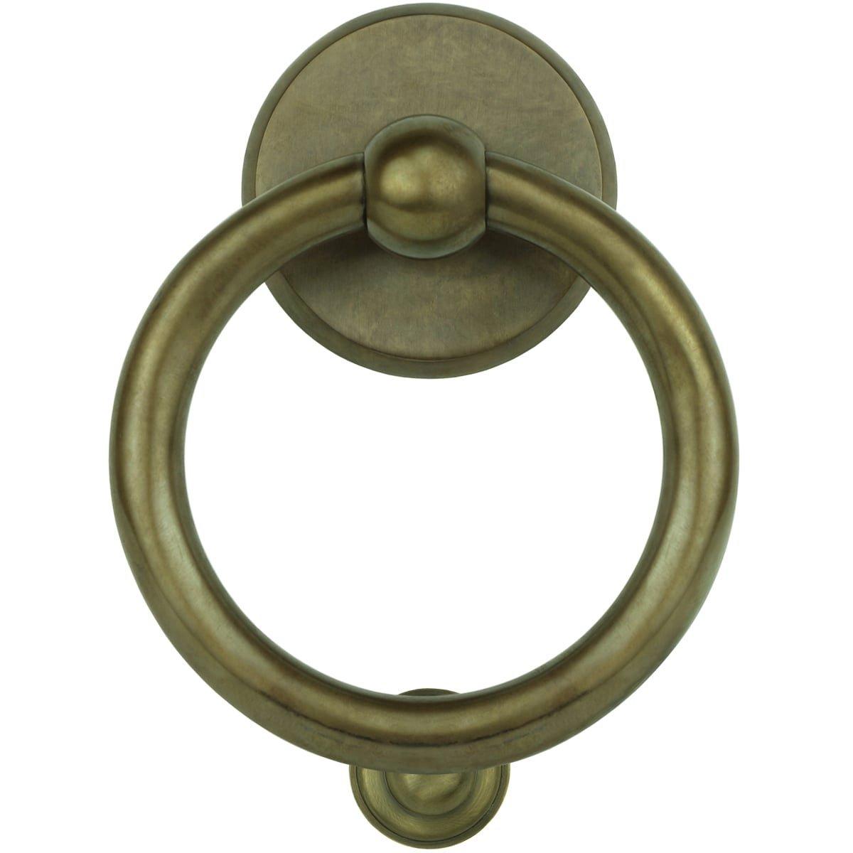 Hardware Door Knockers Ring knocker rural bronze Gröditz - 160 mm