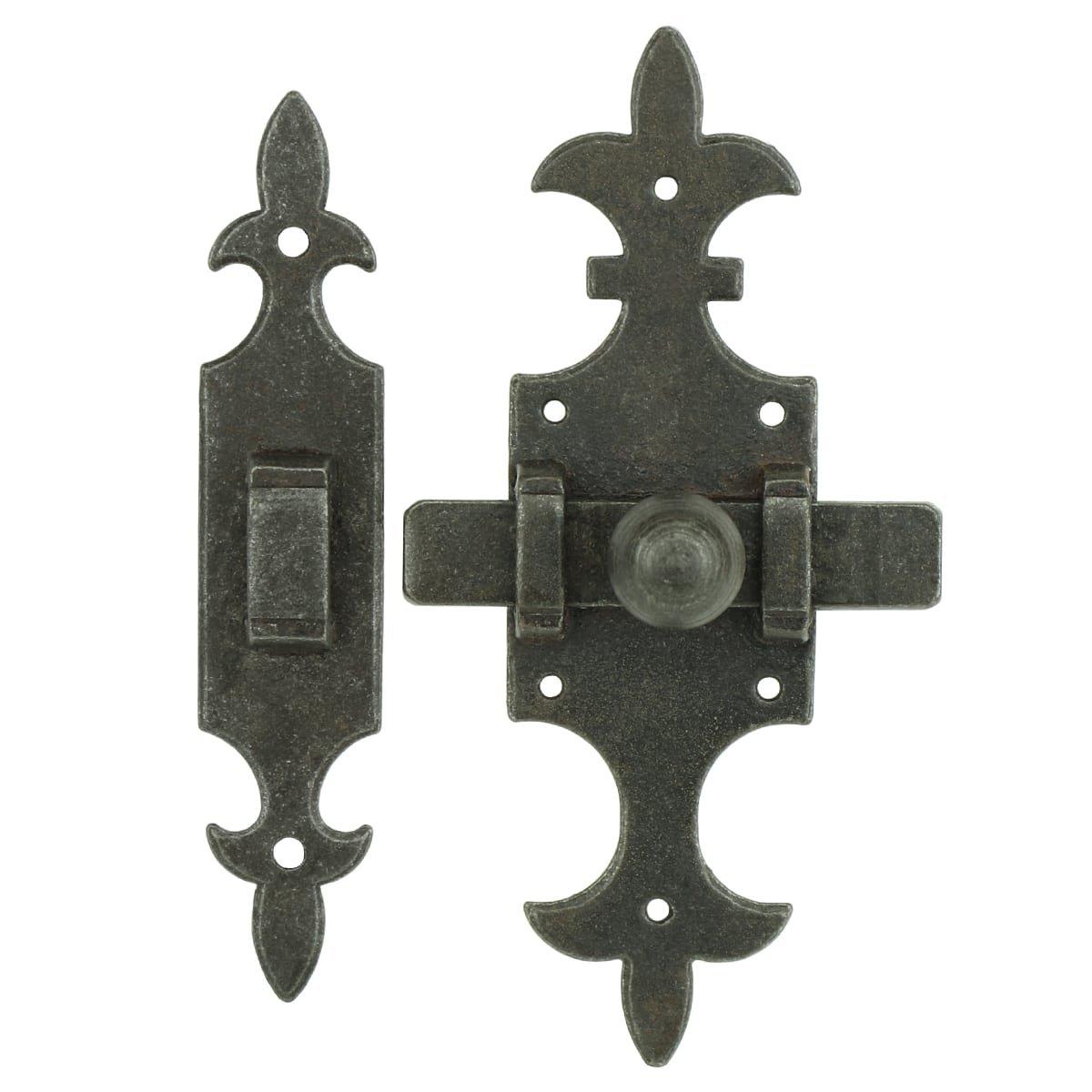 Türbeschläge Türschlösser Schließriegel mit schlossplatte eisen - 140 mm