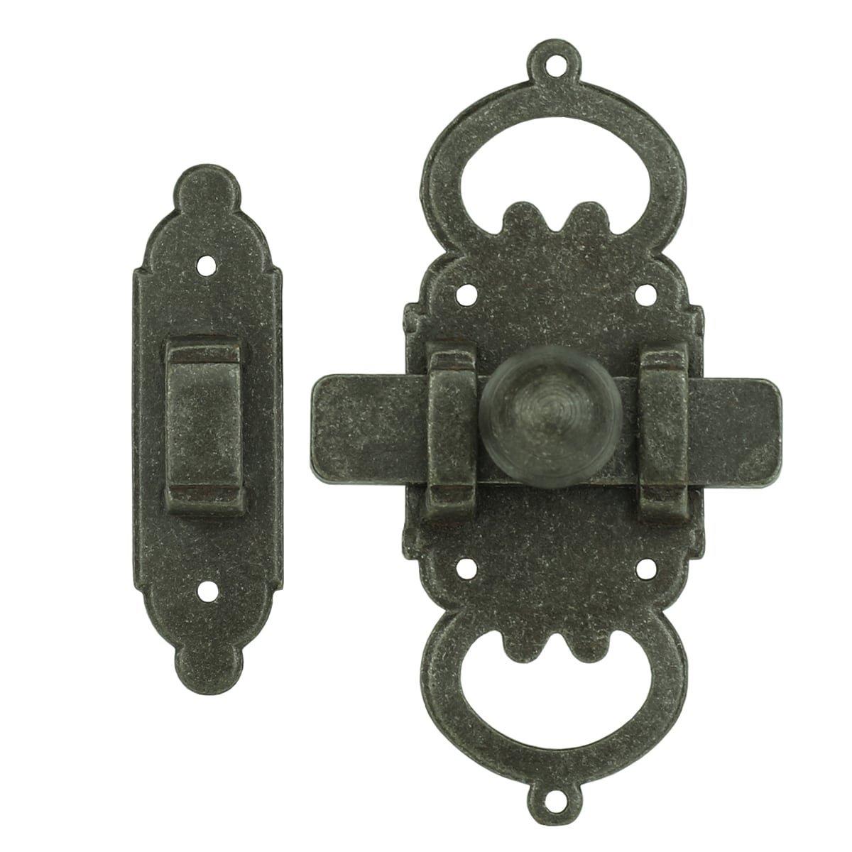 Türbeschläge Türschlösser Schiebeschloss mit schlossfänger antik - 100 mm
