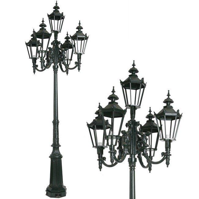 Outdoor Lighting Classic Rural Street light high Hardegarijp 5 lamps - 355 cm