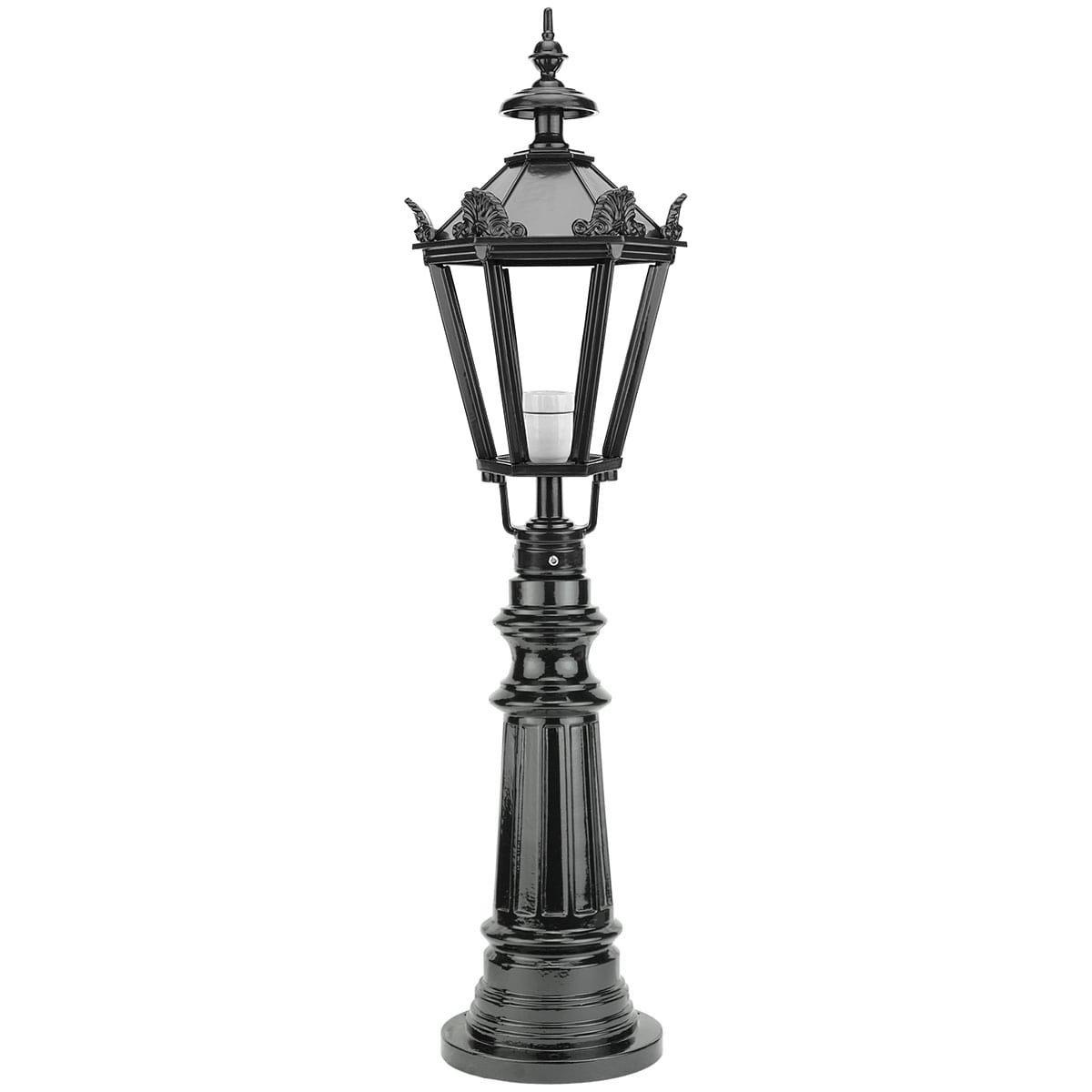Buitenverlichting Klassiek Landelijk Tuinlamp Oldambt met kronen - 98 cm