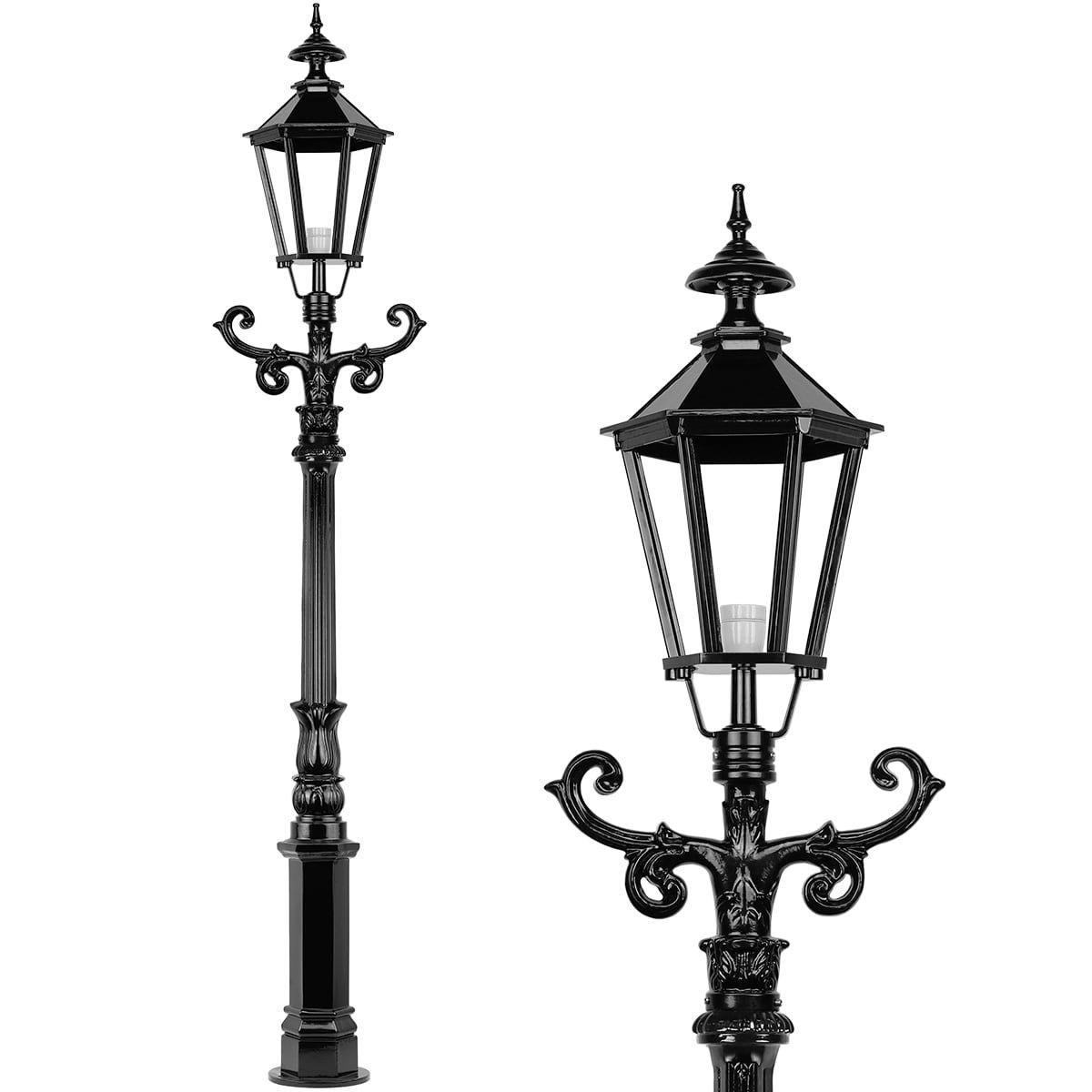 Außenbeleuchtung Klassisch Ländlich Gartenlanterne aluminium Barneveld - 223 cm
